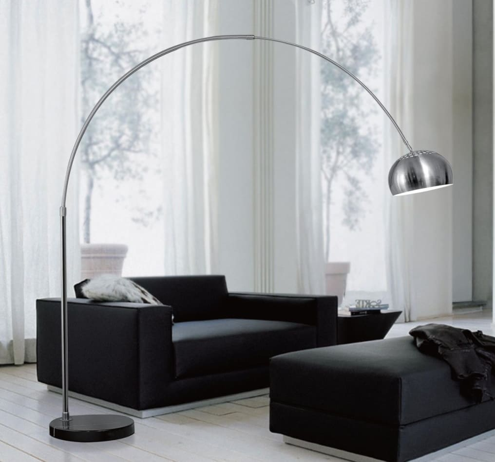 Lampada ad Arco da Terra a Piantana industriale Moderna Design ...