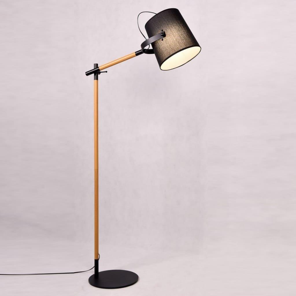 Lampada da terra design legno in metallo | eBay